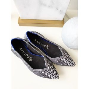 Rare Rothys Black and White Python The Point Flats